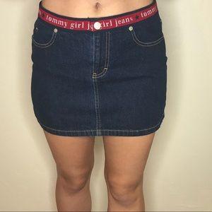 Tommy Hilfiger Mini Jean Skirt Logo